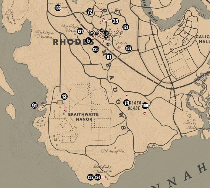 ルモワン州にあるシガレットカードのマップ