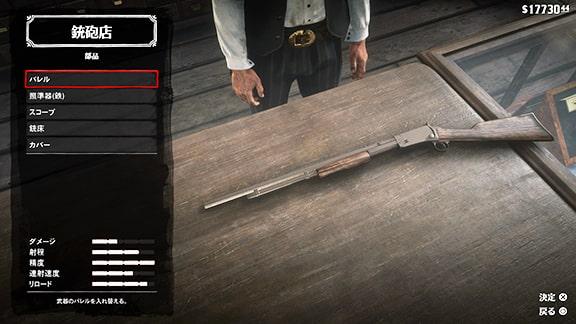 武器のカスタマイズ画像