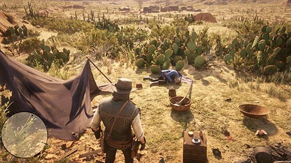 死んだ旅行者のキャンプ画像