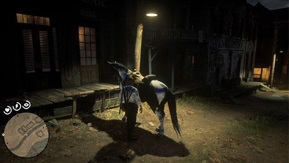 ヴァンホーン交易所にいる馬