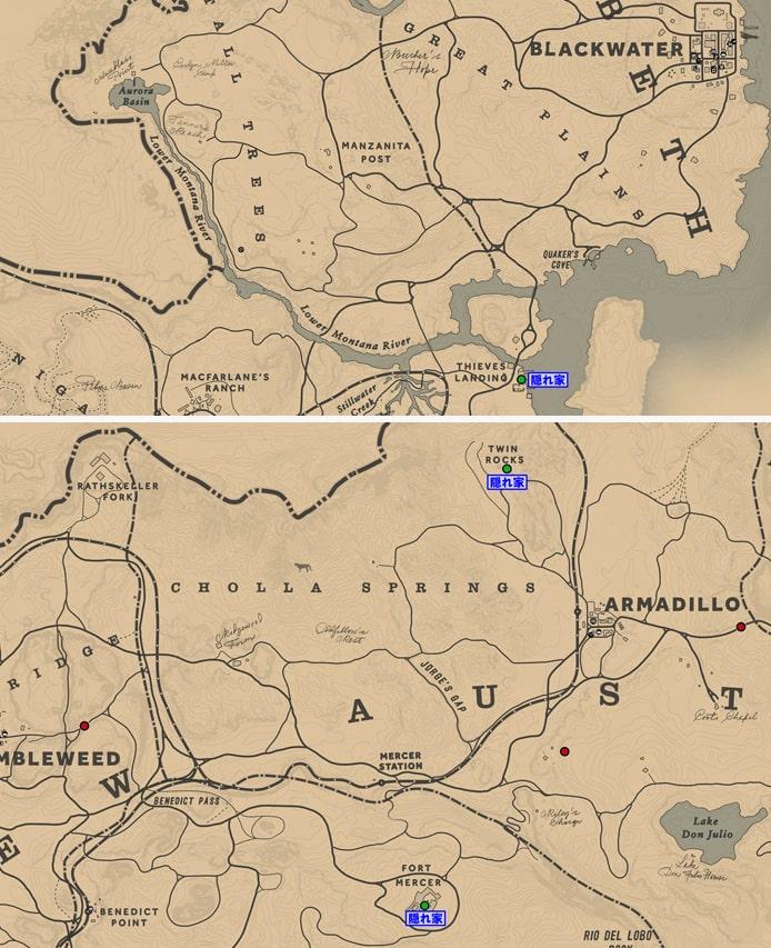 デルロボスの出現場所マップ