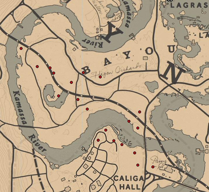 ナイトレディー(ラン科)の入手場所のマップ