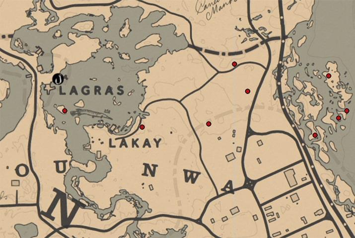 アクーニャスター(ラン科)の入手場所のマップ