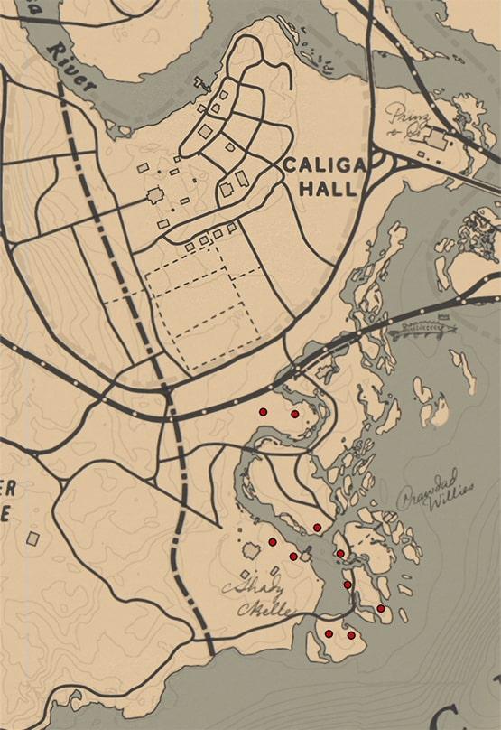 ゴースト(ラン科)の入手場所のマップ