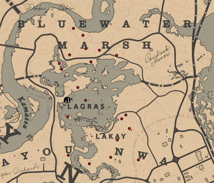 ラットテール(ラン科)の入手場所のマップ