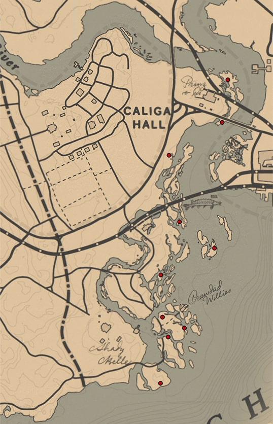 クラムシェル(ラン科)の入手場所のマップ