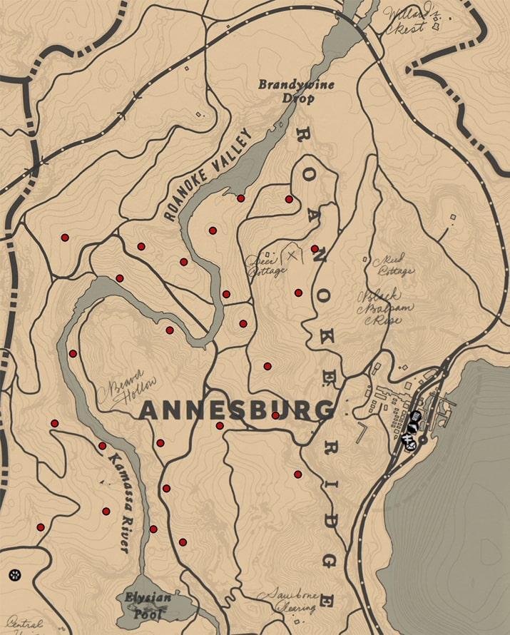 スパローエッグ(ラン科)の入手場所のマップ