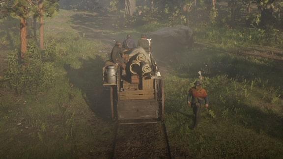 ハビアを馬車に乗せるシーン