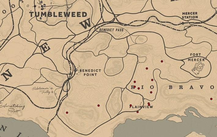 イングリッシュメースの入手場所のマップ