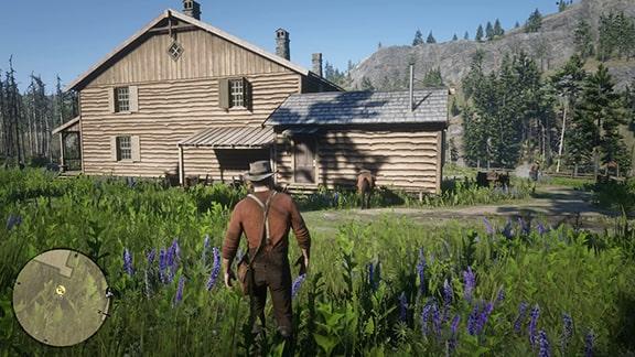 ミッションを開始できるピアソンがいるシェイディベルのキャンプ場