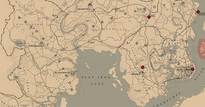 盗品商の場所のマップ