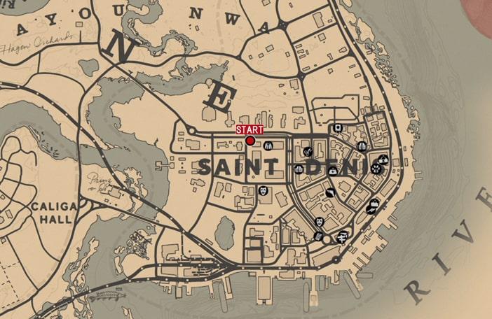 募金活動の発生場所のマップ