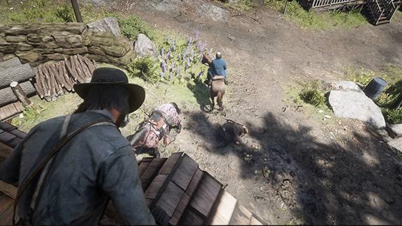 ネイサンが馬で逃走するシーン