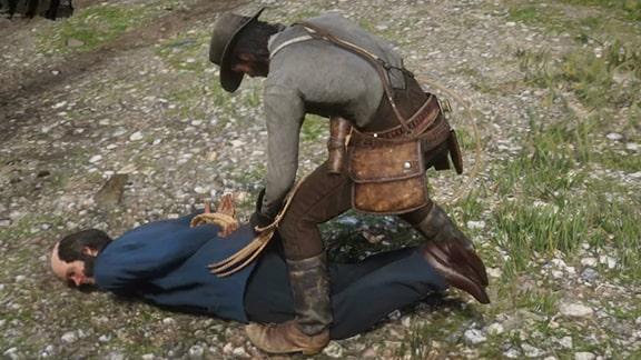 ネイサンを投げ縄で捕獲する光景