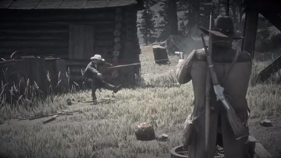 銃撃戦のシーン