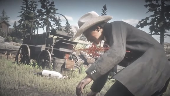 Red Dead Redemption 2の銃撃戦のシーンその2