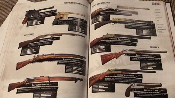 Red Dead Redemption 2の武器画像