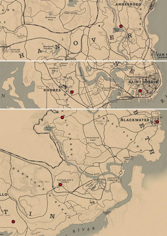 ギャビンの友人のナイジェルの居場所マップ