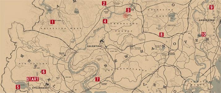 石刻を収集できる場所のマップ