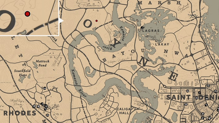 大蛇の場所マップ