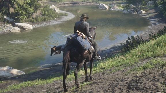 ベネディクトを馬に乗せた様子