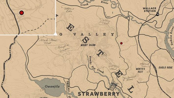 木製のゴリラの場所マップ