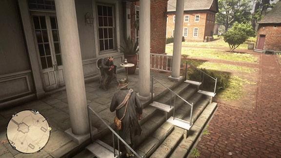 グレイ家の屋敷裏の画像