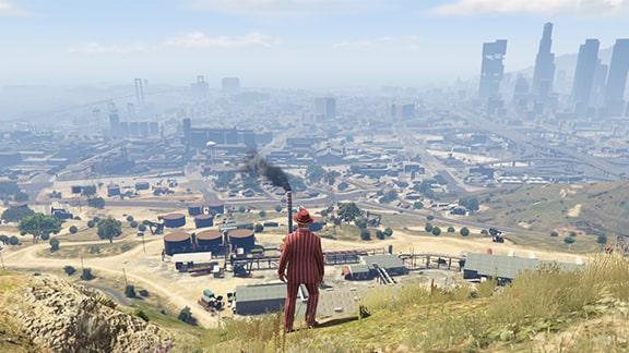 GTAオンラインのロスサントスの風景画像