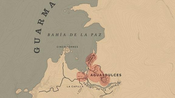 グアーマ島のマップ