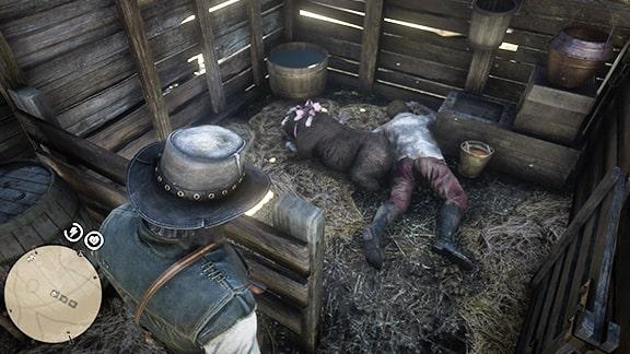 死人と黒毛の羊の画像