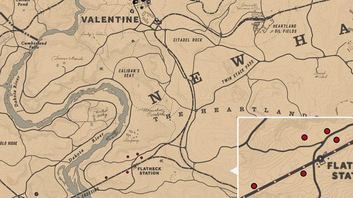 ノコギリソウの入手場所のマップ
