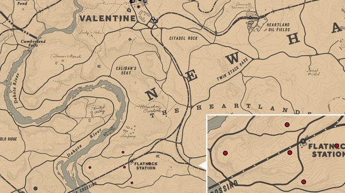 レッドラズベリーの入手場所のマップ