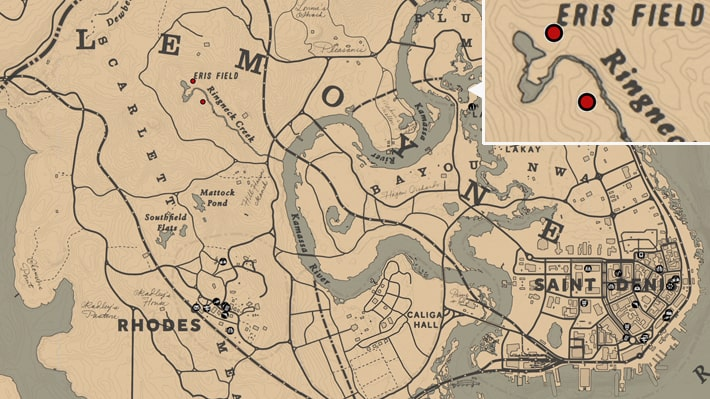 アンズタケの入手場所のマップ