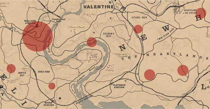 宝の地図を持った見知らぬ人の居場所マップ