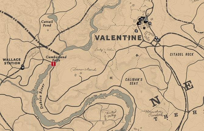 ハイリスクな宝の地図1の場所マップ
