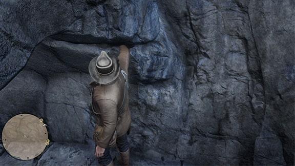 アーサーが宝の地図の場所の秘宝を入手しているシーン