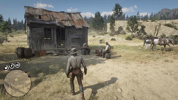 ミッションを開始できるビーチャーズホープのジョンの牧場にいるチャールズとおじさん