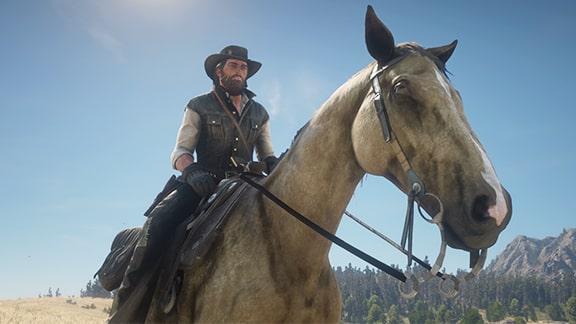 馬に騎乗中の画像