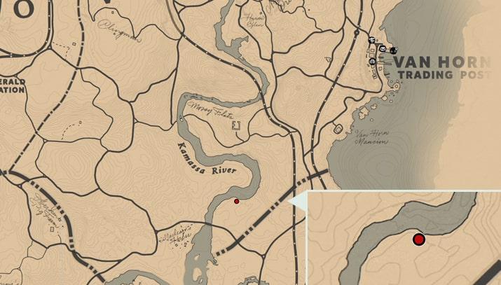 ハビアのオレアンダーの入手場所のマップ