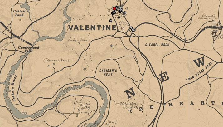 ショーンのケンタッキーバーボンの入手場所のマップ