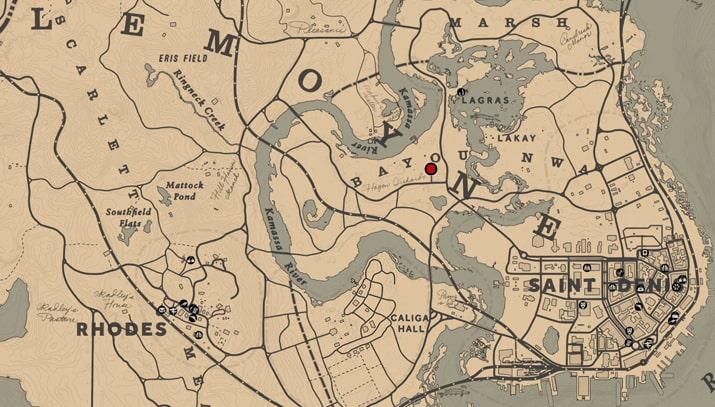 ホゼアの犯罪小説の入手場所のマップ