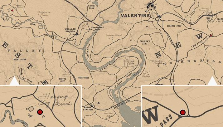 ティリーのネックレスの入手場所のマップ