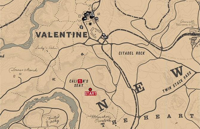 ジャック・ホール一味の地図1の場所