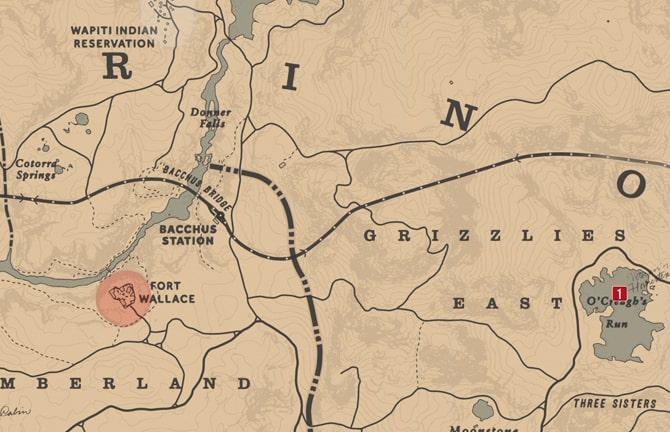 ジャック・ホール一味の地図3の場所