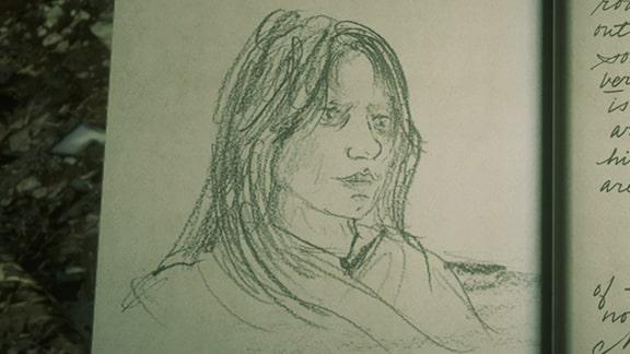 アーサーが描いたジェニーの似顔絵