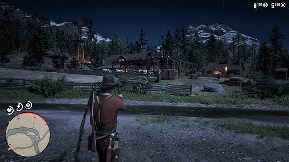 ハンギングドッグ牧場での銃撃戦の様子
