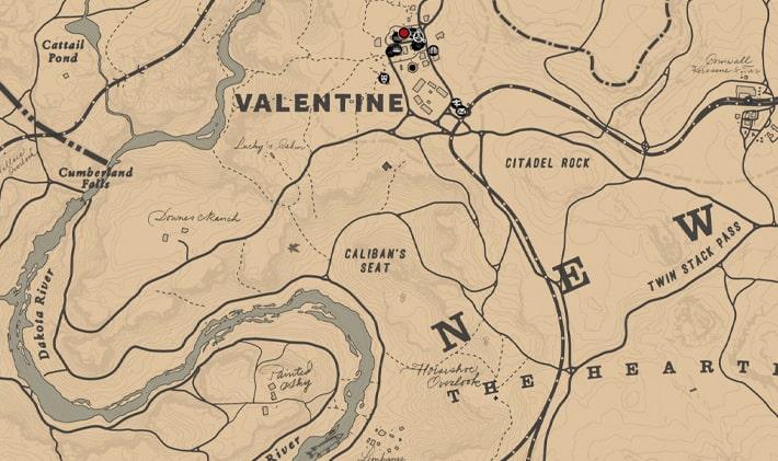 酔っ払いの失われた説教者の居場所マップ