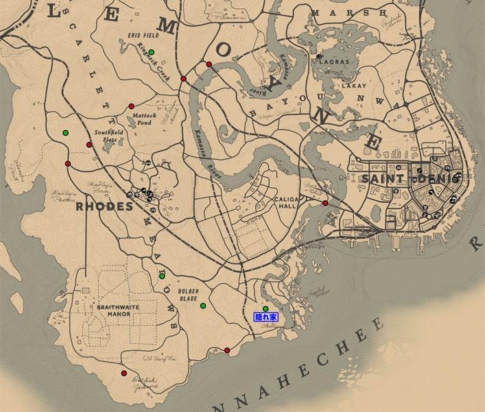 ルモワンレイダーズのギャングの出現場所マップ
