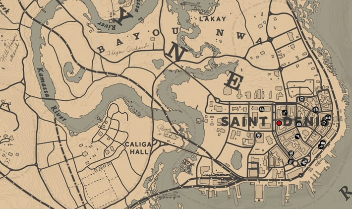 リリアン・パウェルの居場所マップ