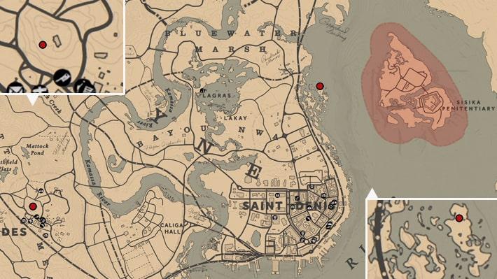 ブレスウェイト荘園の場所のマップ